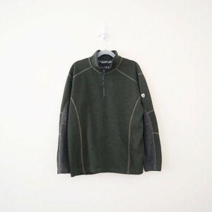 Kuhl Boy's Revel 1/4 Zip Knit Sweater Green